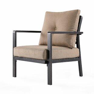 Cobbie Patio Chair with Cushions by Fleur De Lis Living