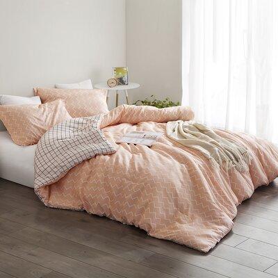 Devizes Reversible Comforter Set Wrought Studio Size: King Comforter + 2 Shams