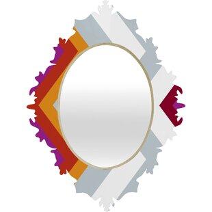 Deny Designs Karen Harris ity Solstice Warm Chevron Baroque Accent Mirror