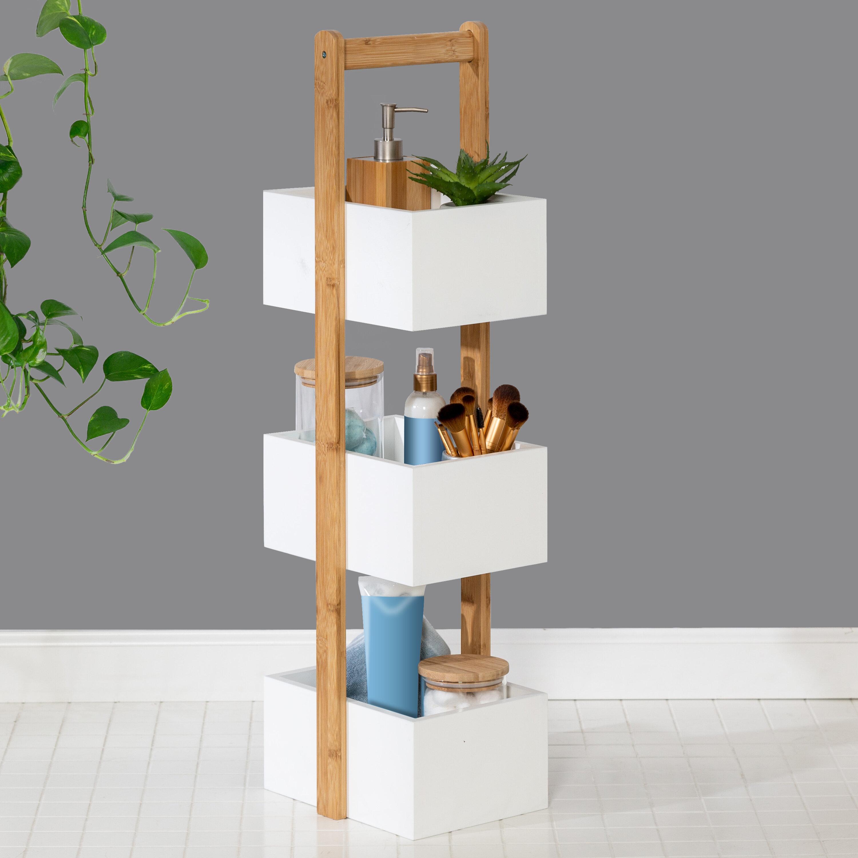 Rebrilliant Arreola 10 W X 34 H X 9 D Free Standing Bathroom Shelf Reviews Wayfair