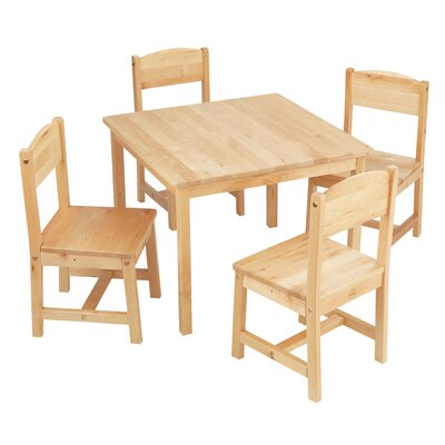 KidKraft Farmhouse Kids 5 Piece Writing Table and Chair Set Color: Natural