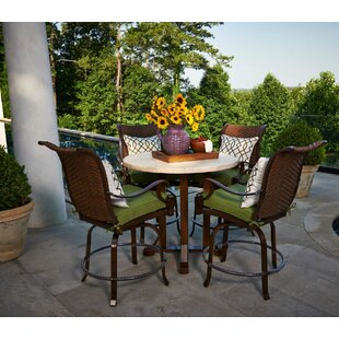 Panama 5 Piece Counter Height Dining Set with Cushions by Peak Season Inc.