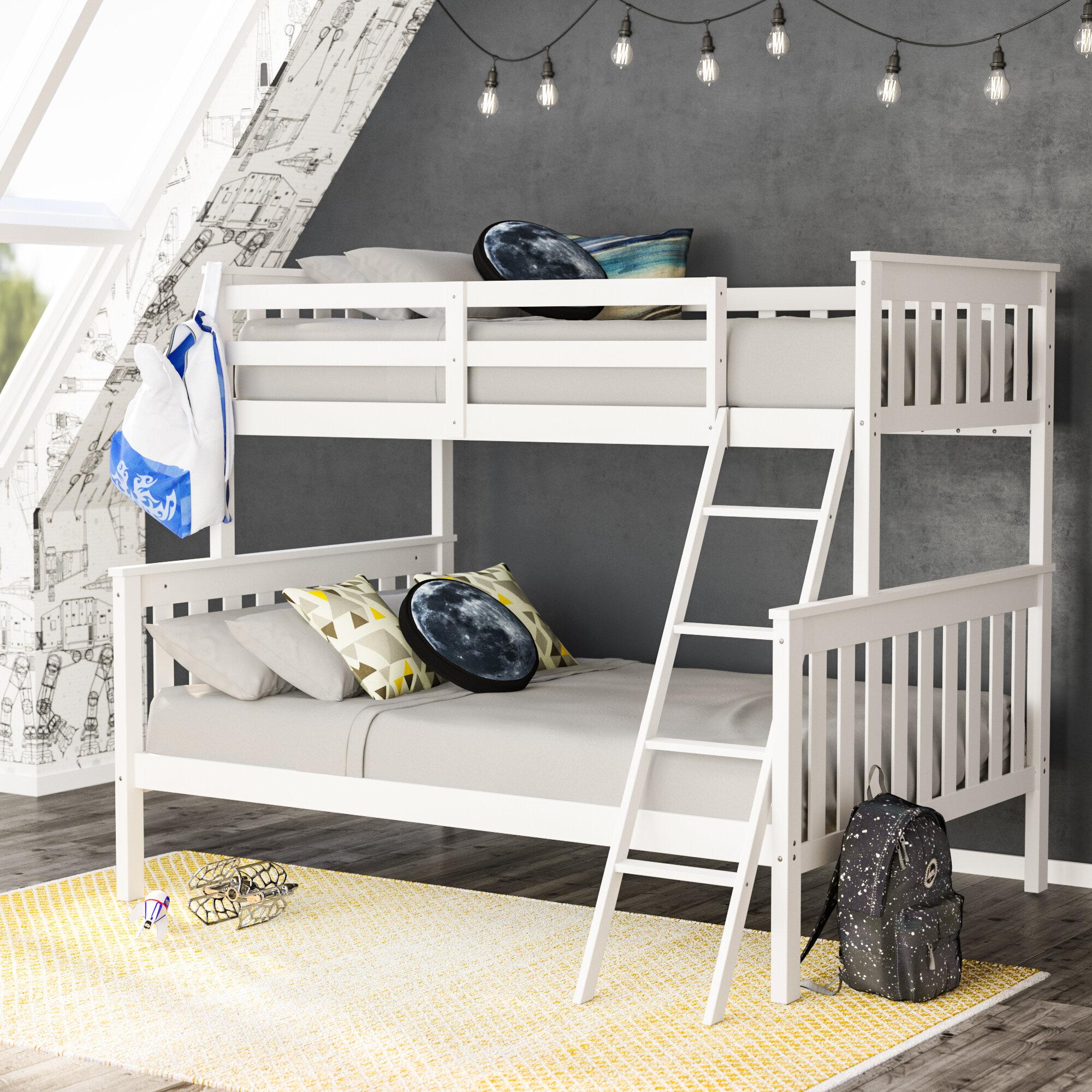 Lit Superposé Sous Pente lit superposé simple au-dessus d'un lit double rowley