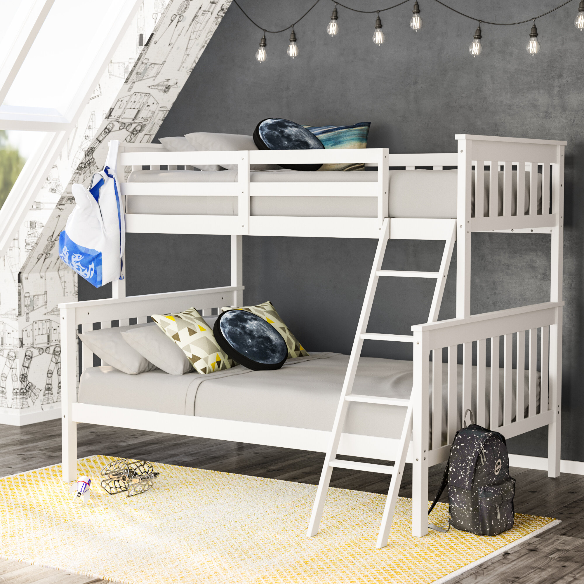 Viv Rae Rowley Twin Over Full Bunk Bed Reviews Wayfair