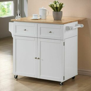 Carol Kitchen Island with Butcher Block Top by Wildon Home?