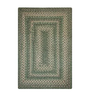 Marcelle Ultra Durable Braided Green/Beige Indoor/Outdoor Area Rug