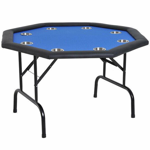 Soozier 47 25 8 Player Foldable Poker Table Reviews Wayfair