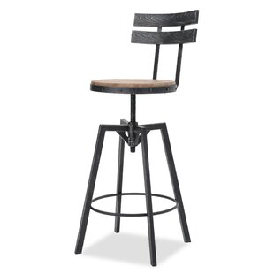 Julianna Adjustable Height Swivel Bar Stool by Laurel Foundry Modern Farmhouse