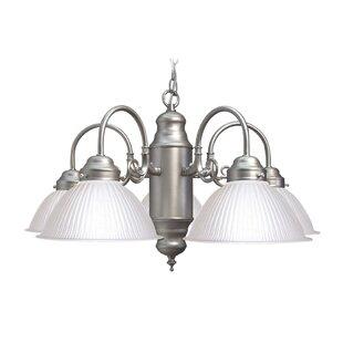 Woodbridge Lighting Basic 5-Light Shaded Chandelier