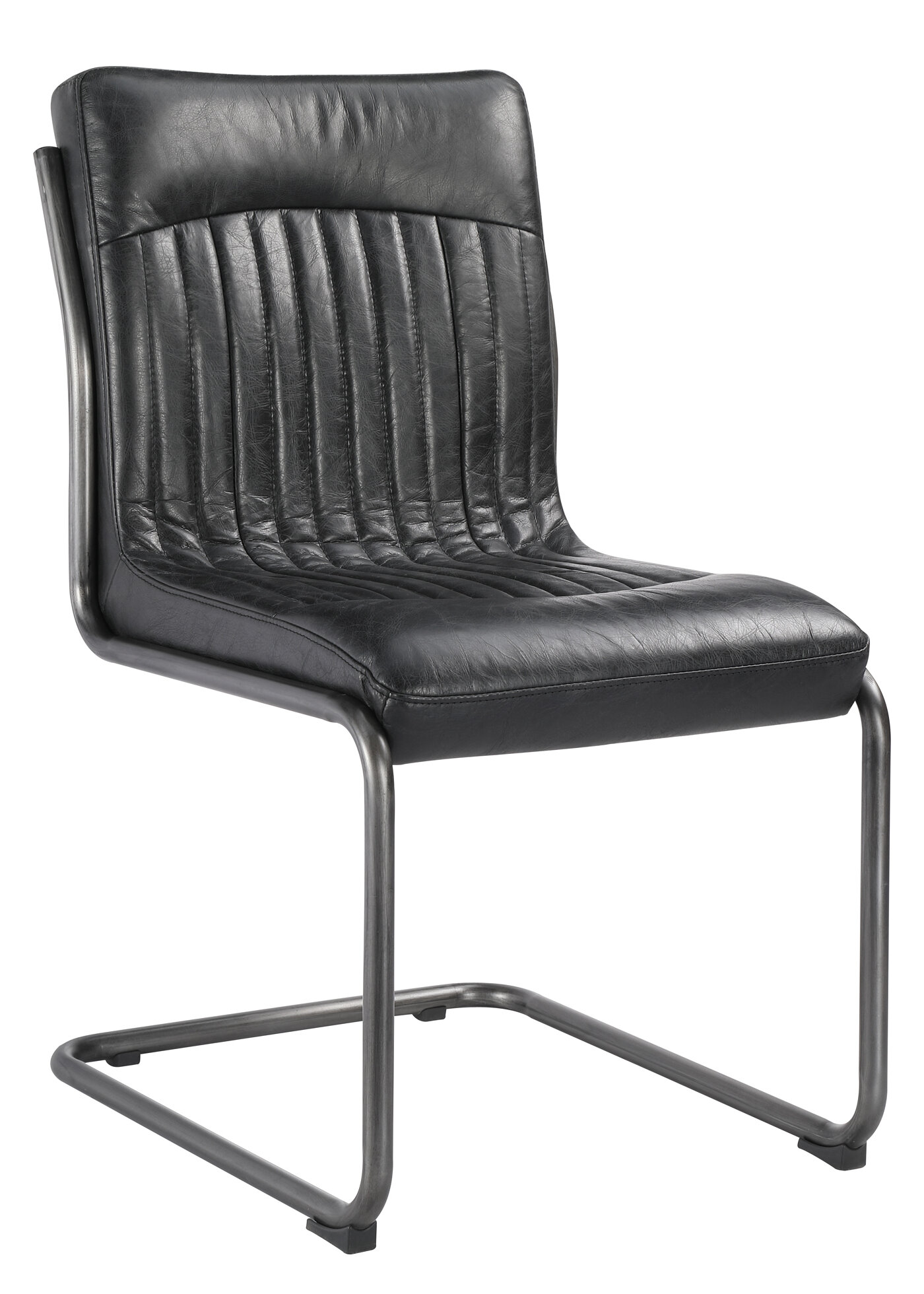Williston Forge Dublin Genuine Leather Upholstered Dining Chair Wayfair