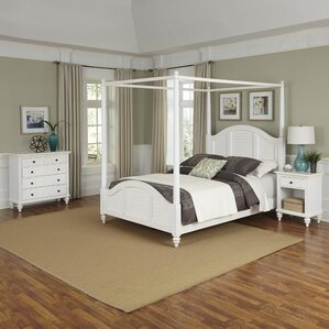 Harrison Canopy 3 Piece Mahogany Bedroom Set