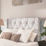Basco Button Tufted Upholstered Panel Headboard by Darby Home Co