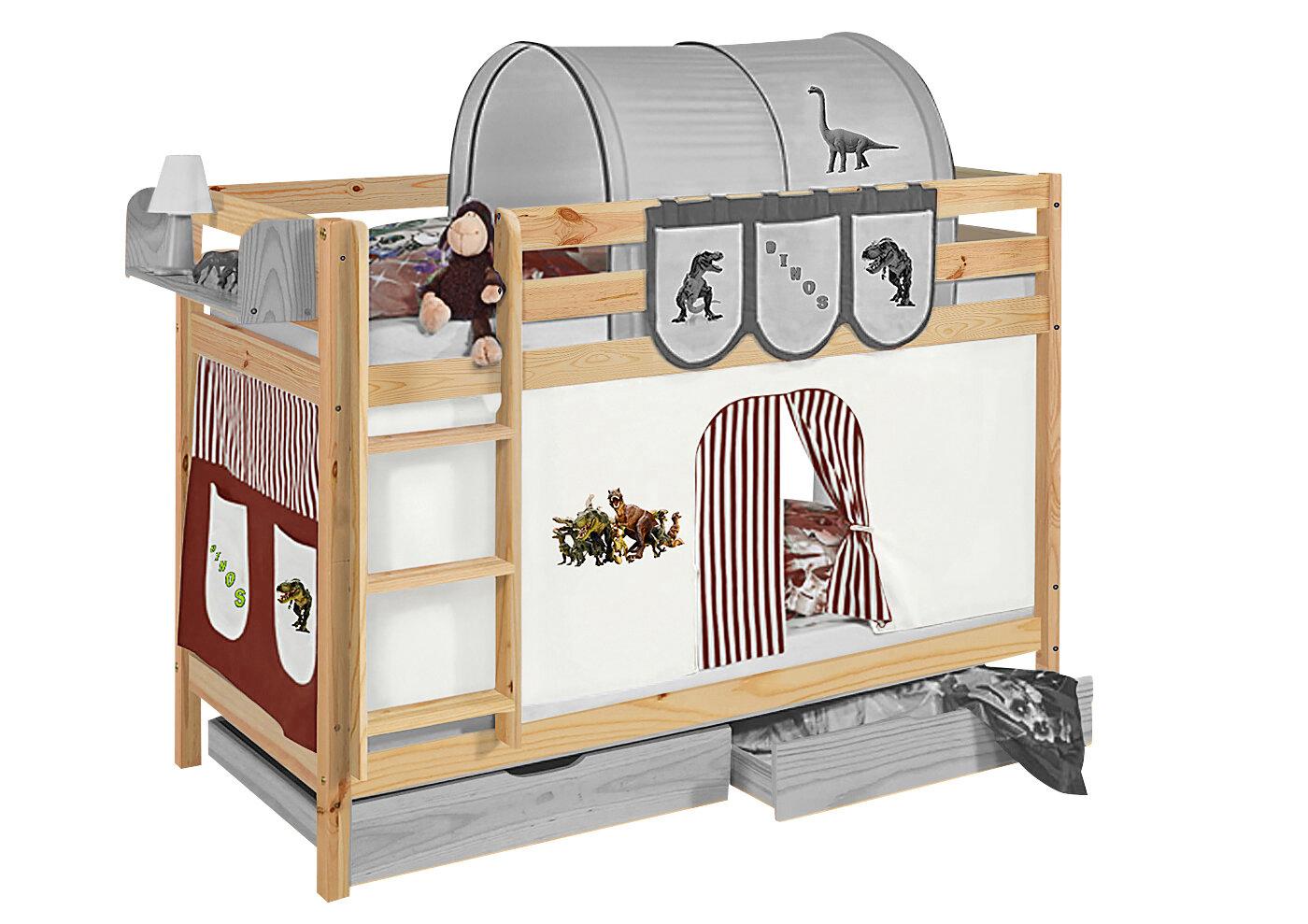 Etagenbett Wayfair : Roomie kidz etagenbett cutshall mit hochbettvorhang cm