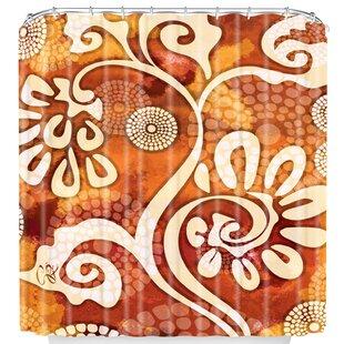 Design Warm Exotic Vines Single Shower Curtain