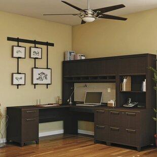 Bush Business Furniture Enterprise 3 Piece L-Shape Desk Office Suite