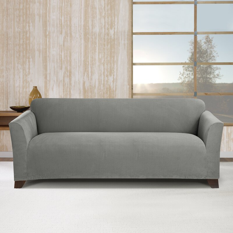 Sure Fit Simple Stretch Subway Box Cushion Sofa Slipcover & Reviews ...