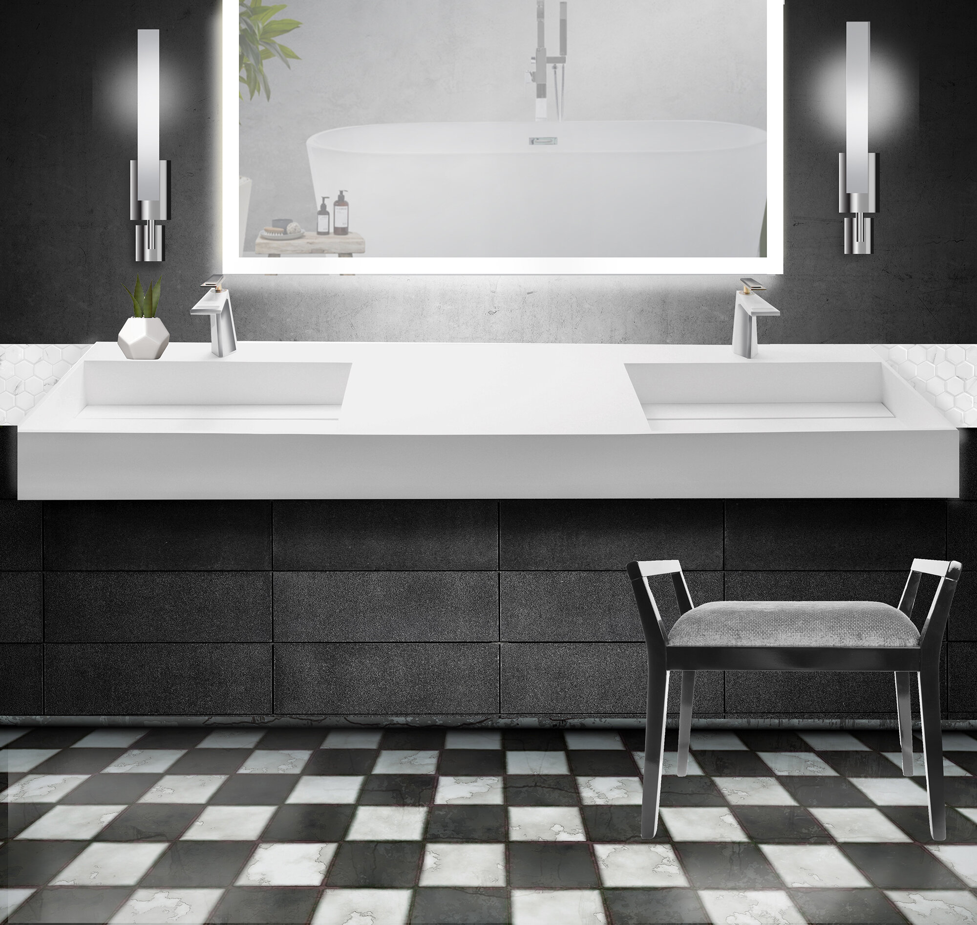 Orren Ellis Boyter Stone Rectangular Wall Mount Bathroom Sink Wayfair