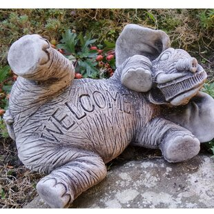 Lawrence Elephant Welcome Stone Garden Statue By Happy Larry