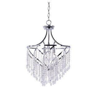 Find Caruso 3-Light Crystal Chandelier By House of Hampton
