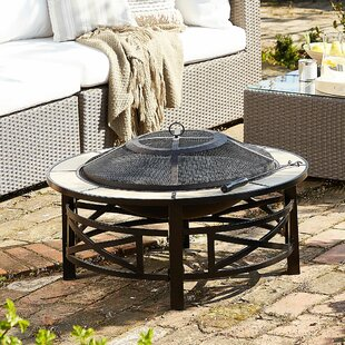 Yuen Steel Charcoal/Wood Burning Fire Pit By Sol 72 Outdoor