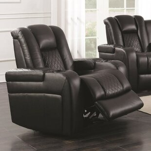 Yannick Contemporary Padded Plush Power Recliner
