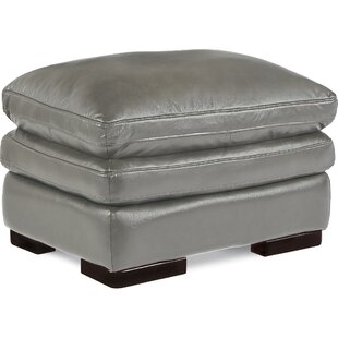 Jake Leather Ottoman by La..