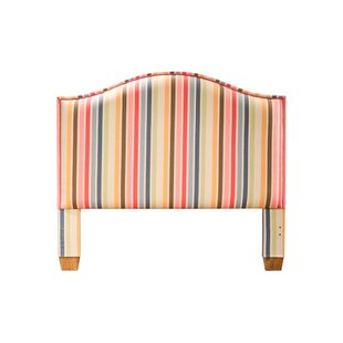 Beachside Striped Queen Upholstered Panel Headboard