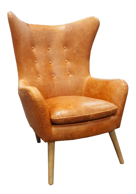 Westland and Birch Elm Top Grain Leather Wingback Chair Reviews