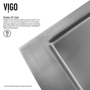 All in One 36 L x 22 W Farmhouse Apron Kitchen Sink with Faucet, Grid, Strainer and Soap Dispenser ByVIGO