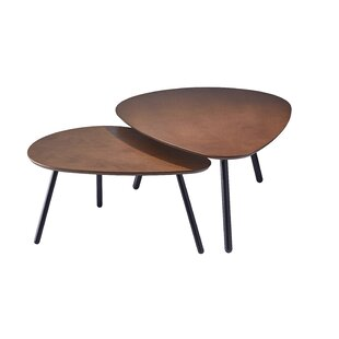 Irvin Nesting 2 Piece Coffee Table Set by George Oliver Best #1