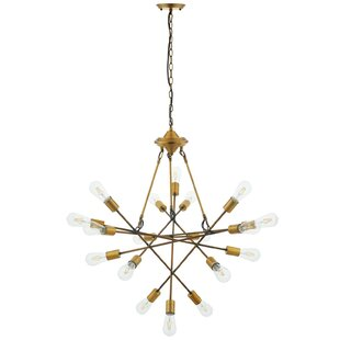 George Oliver Griffey Request Mid-Century 18-Light Sputnik Chandelier