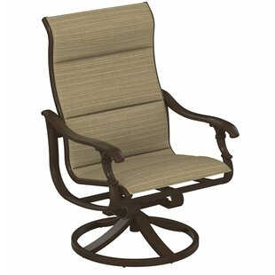 Tropitone Ravello Padded Sling Swivel Action Patio Chair