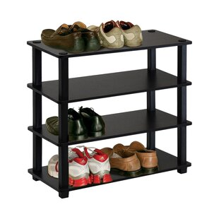 Where buy  4-Tier 12 Pair Stackable Shoe Rack By Rebrilliant