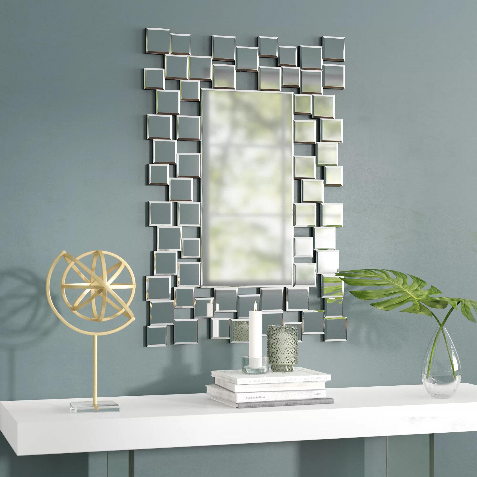 Brayden Studio Modern Contemporary Wall Mirror Reviews Wayfair
