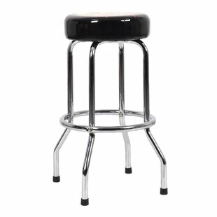 Emmanuel Flame Round Padded 29'' Bar Stool by Symple Stuff
