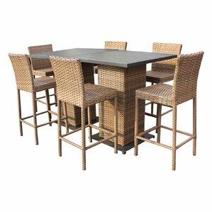 Laguna 8 Piece Pub Table Set by TK Classics