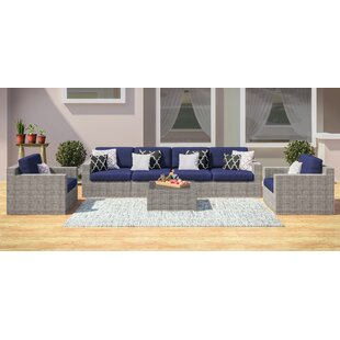 Campa 7 Piece Rattan Sofa Seating Group with Cushions