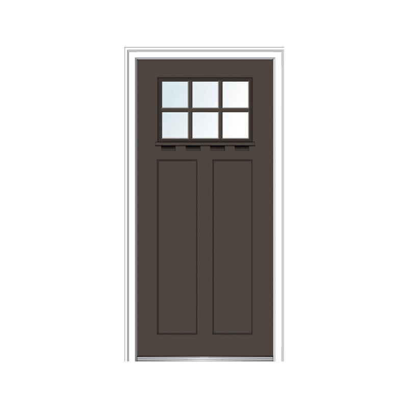 Craftsman Shaker Smooth 2 Panel Fiberglass Prehung Front Entry Door