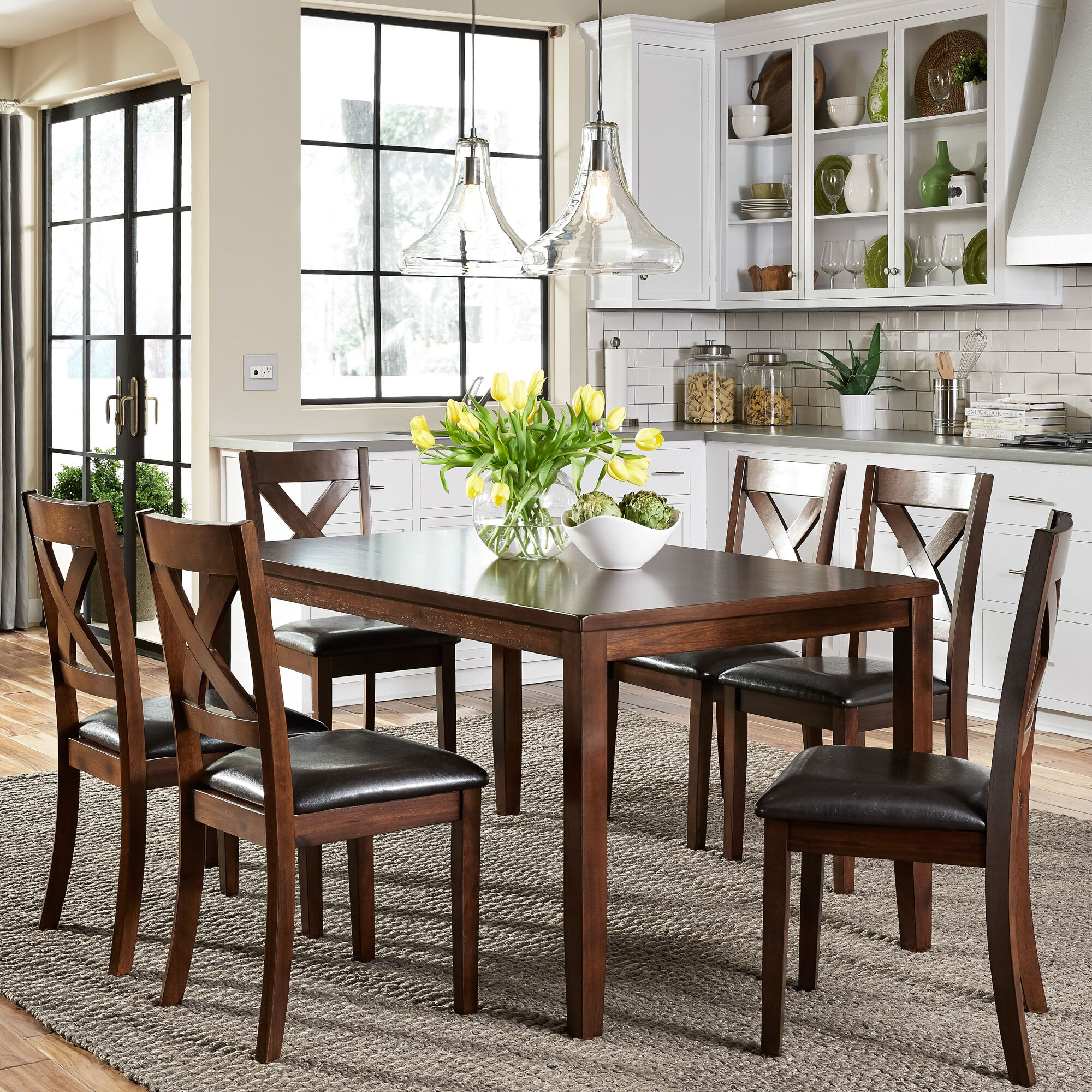 Seats 6 Kitchen & Dining Room Sets You'll Love in 2021 | Wayfair