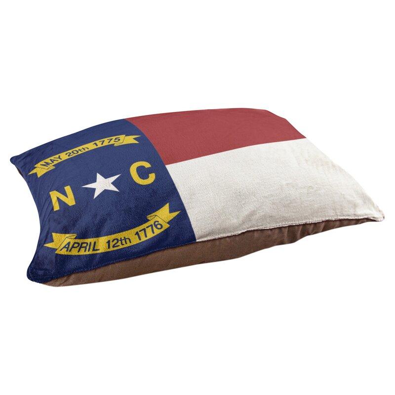 Tucker Murphy Pet Burien North Carolina Flag Dog Pillow Wayfair