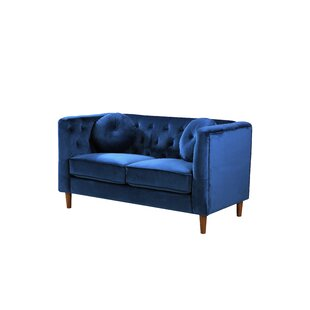 Gladiolus Chesterfield Loveseat by Mercer41