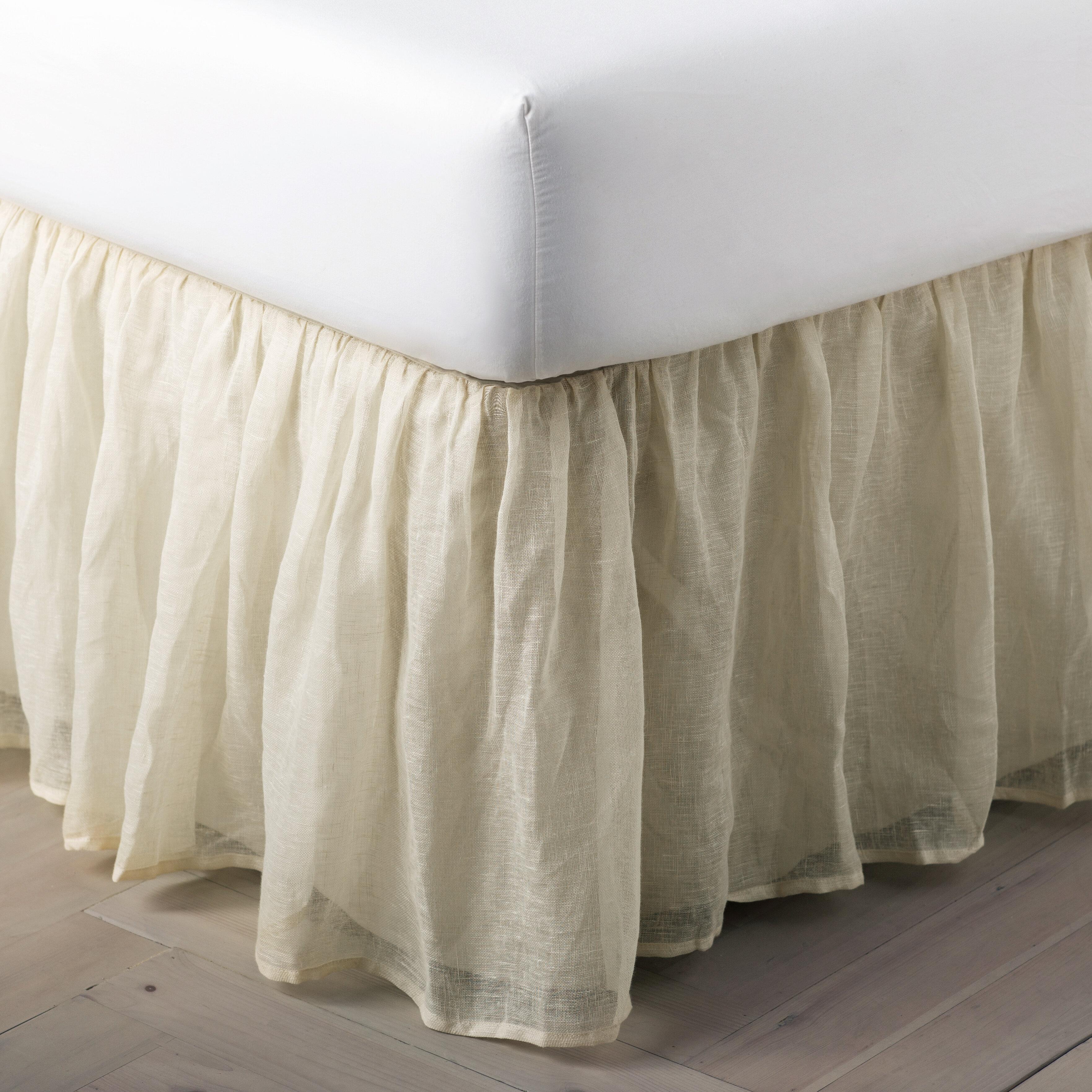 Pine Cone Hill Savannah Linen Gauze 18 Bed Skirt