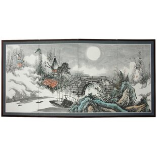 Rowberrow Bridge To The Full Moon 4 Panel Room Divider by Bloomsbury Market