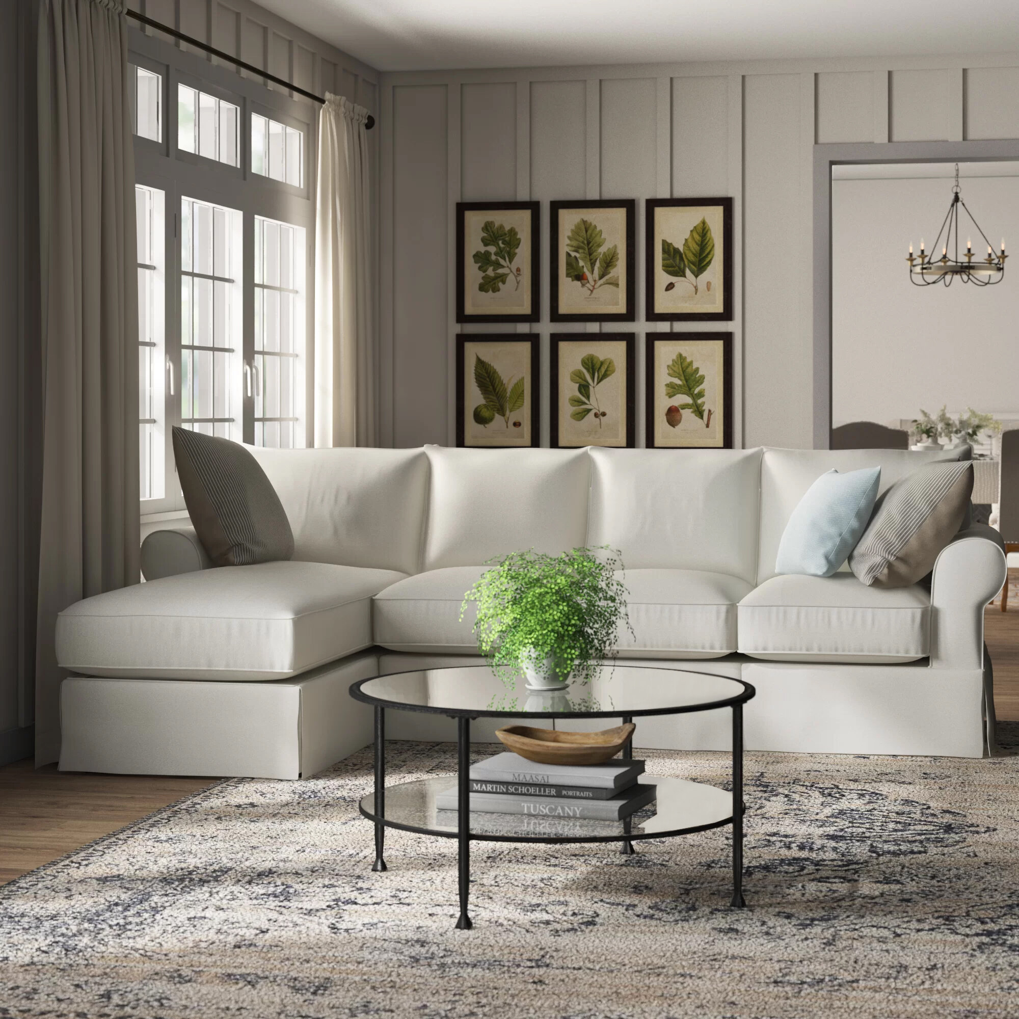 Birch Lane™ Heritage Jameson Upholstered Sofa with Chaise & Reviews on