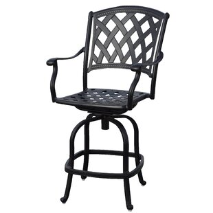 Campton Patio Counter Height Bar Stool with Cushion (Set of 4) (Set of 4)