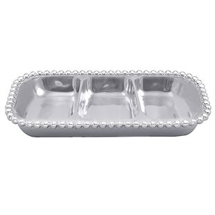 String of Pearls Small 3-Section Divided Serving Dish by Mariposa