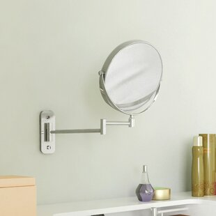 Symple Stuff Magnifying Two-Sided Swivel Extendable Makeup Mirror