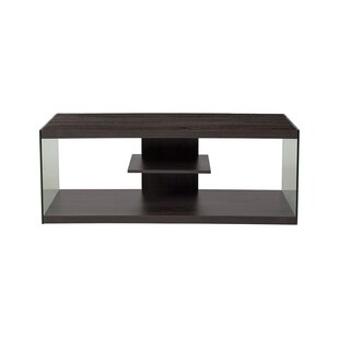 Affordable Romona Driftwood Wood Grain Finish TV Stand for TVs up to 45 with Shelves By Ebern Designs