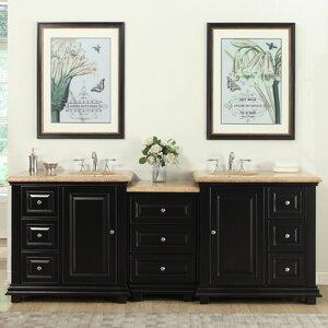 90.5 Double Sink Bathroom Modular Vanity Set
