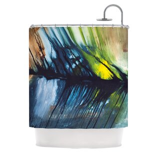 Gravity Falling Polyester Single Shower Curtain
